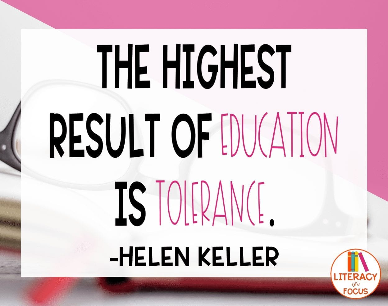 Tolerance and Education Quote