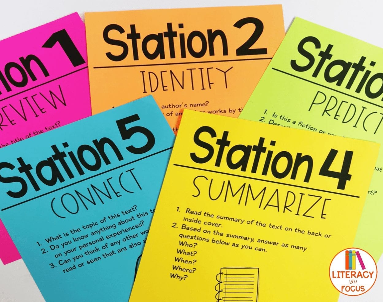 PreReading Stations