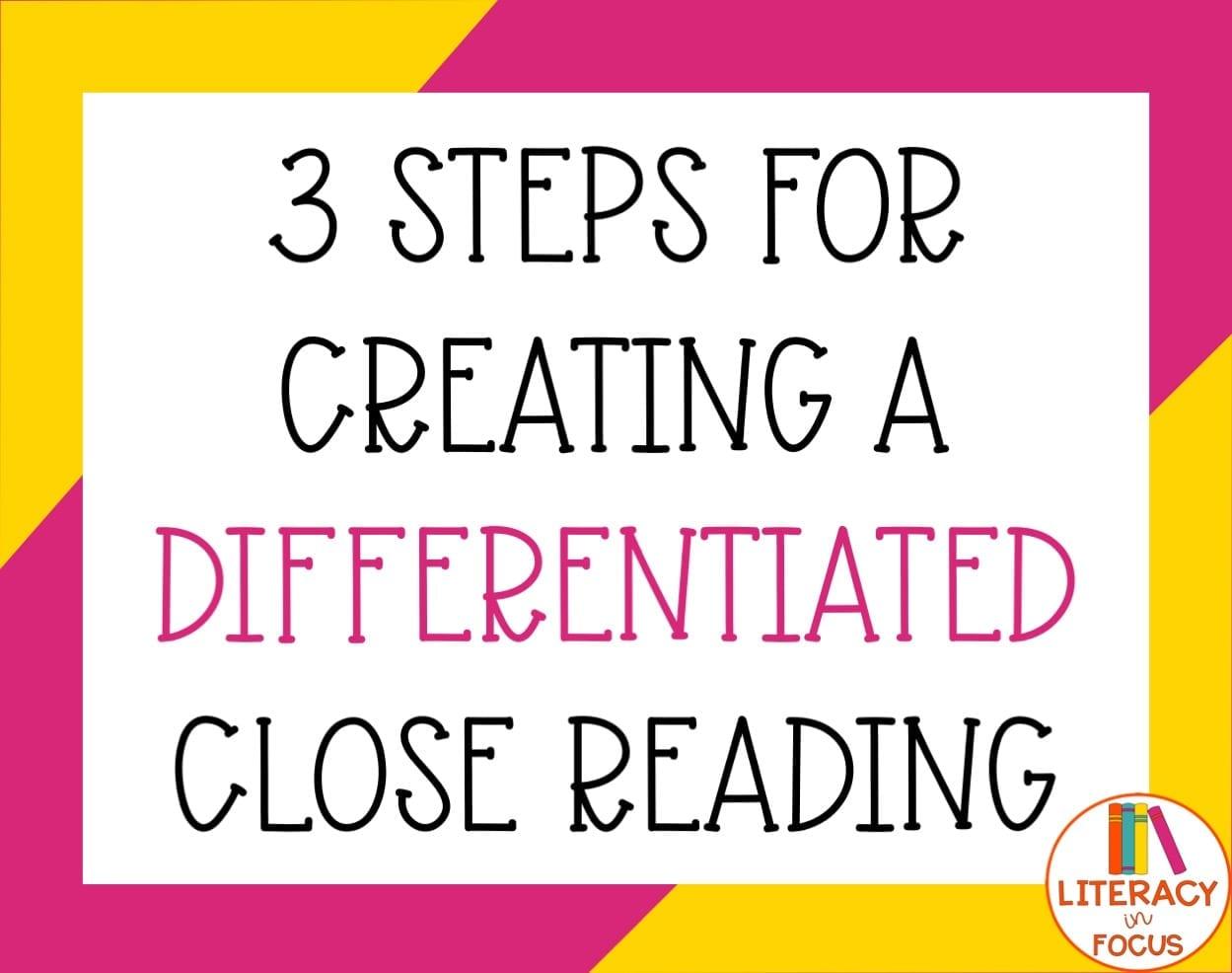 Close Reading DIY