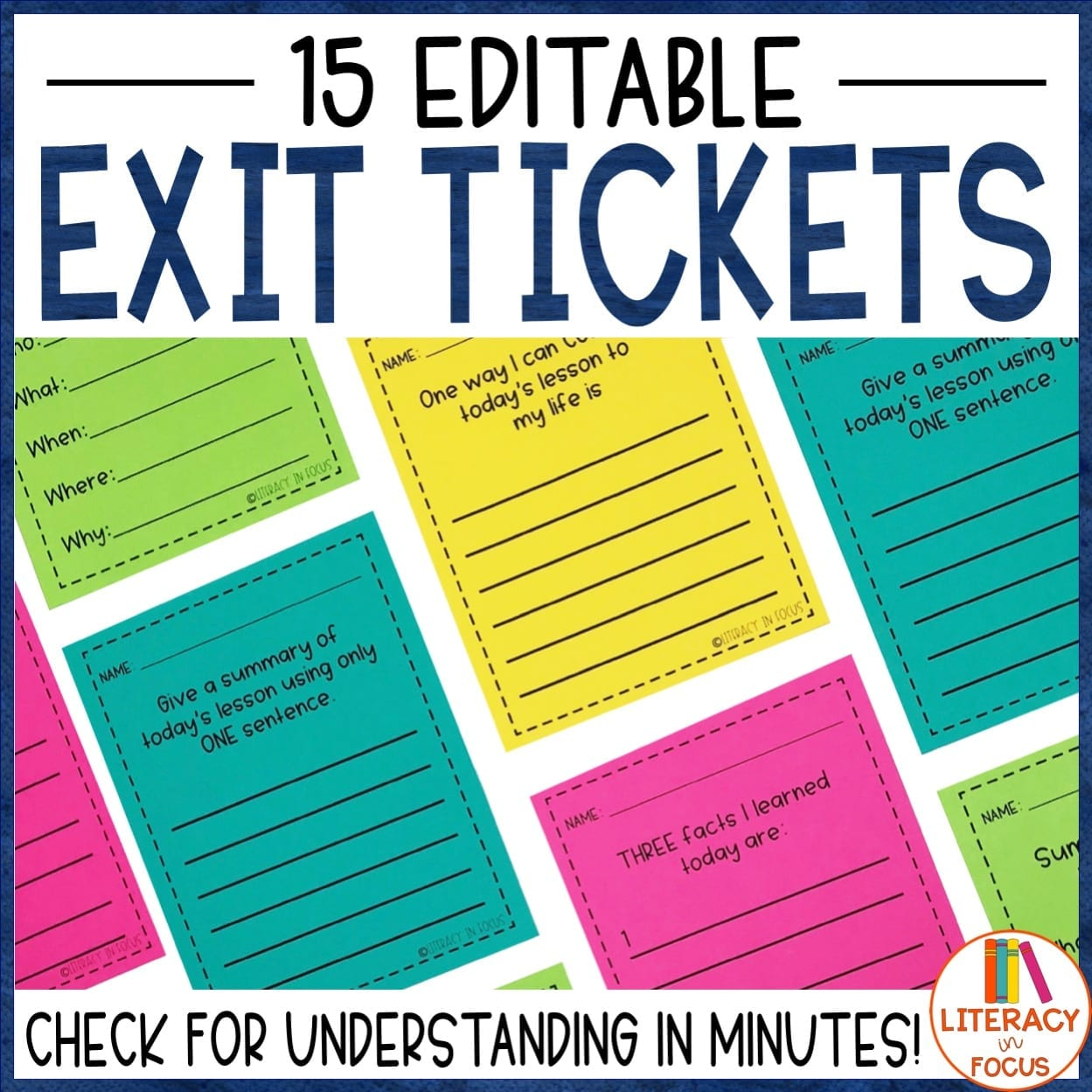 It's just a graphic of Exit Tickets Printable within word document