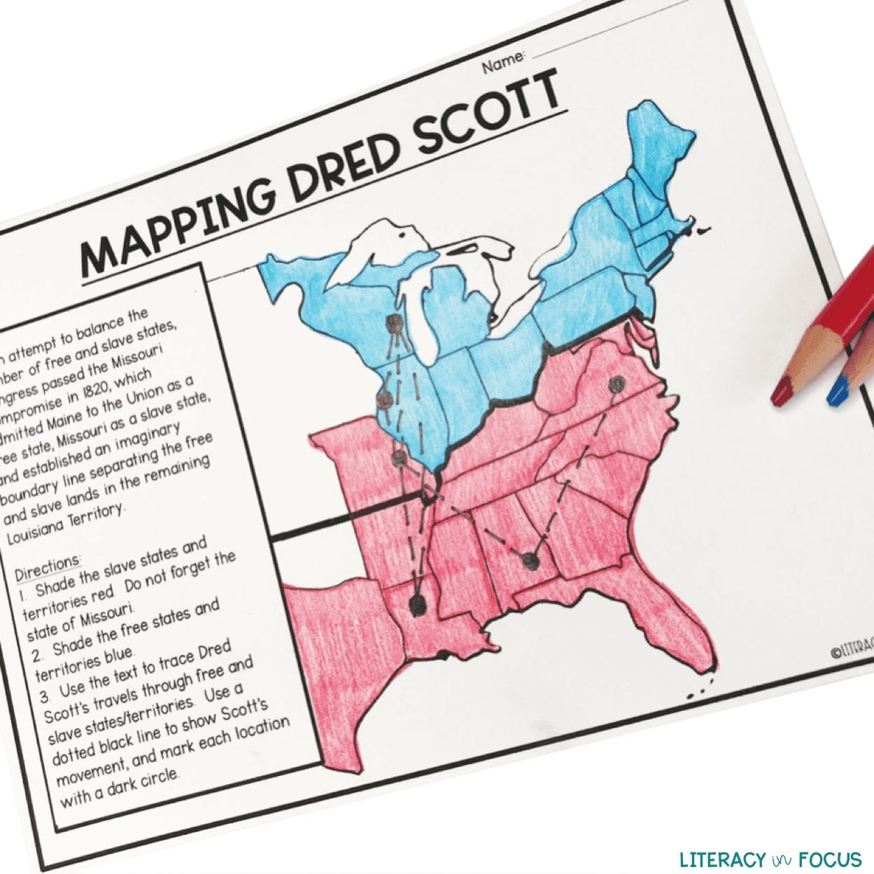 dred scott map