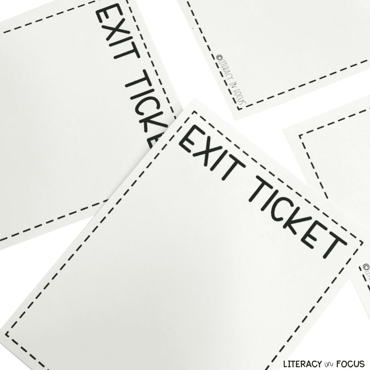blank exit ticket