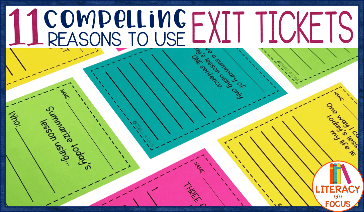 Exit Ticket Reasons
