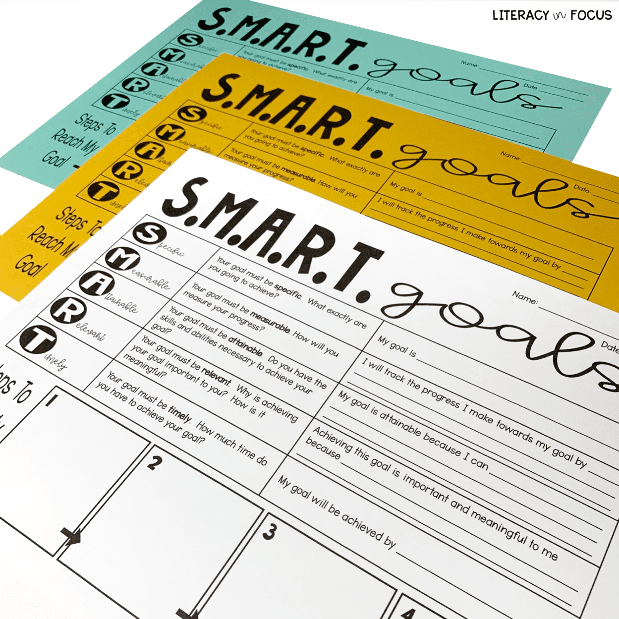 SMART Goals Worksheets