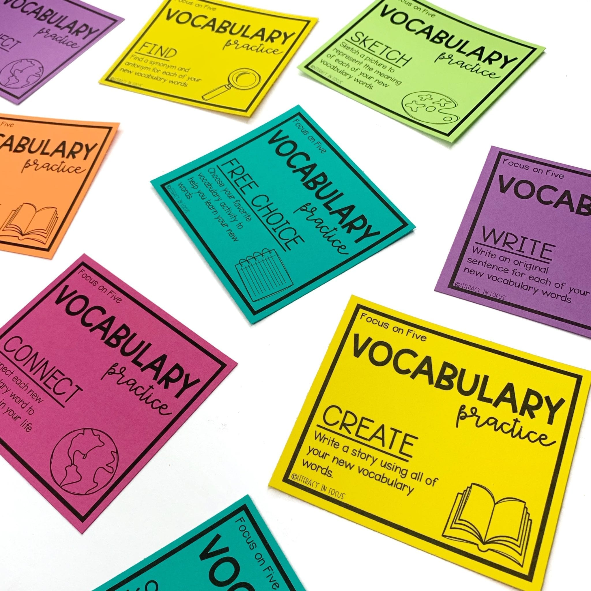 Vocabulary Activity Cards