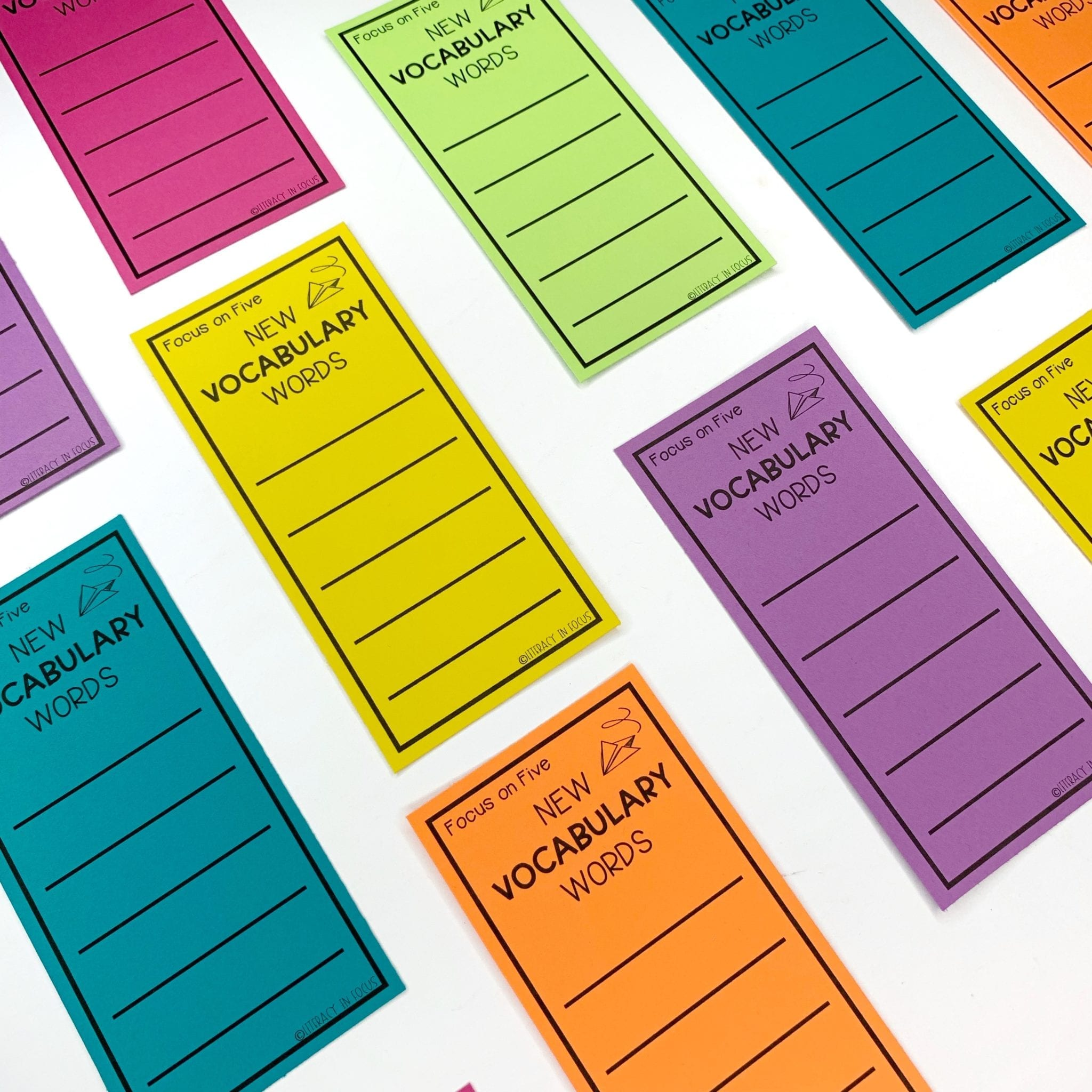 Vocabulary Bookmarks