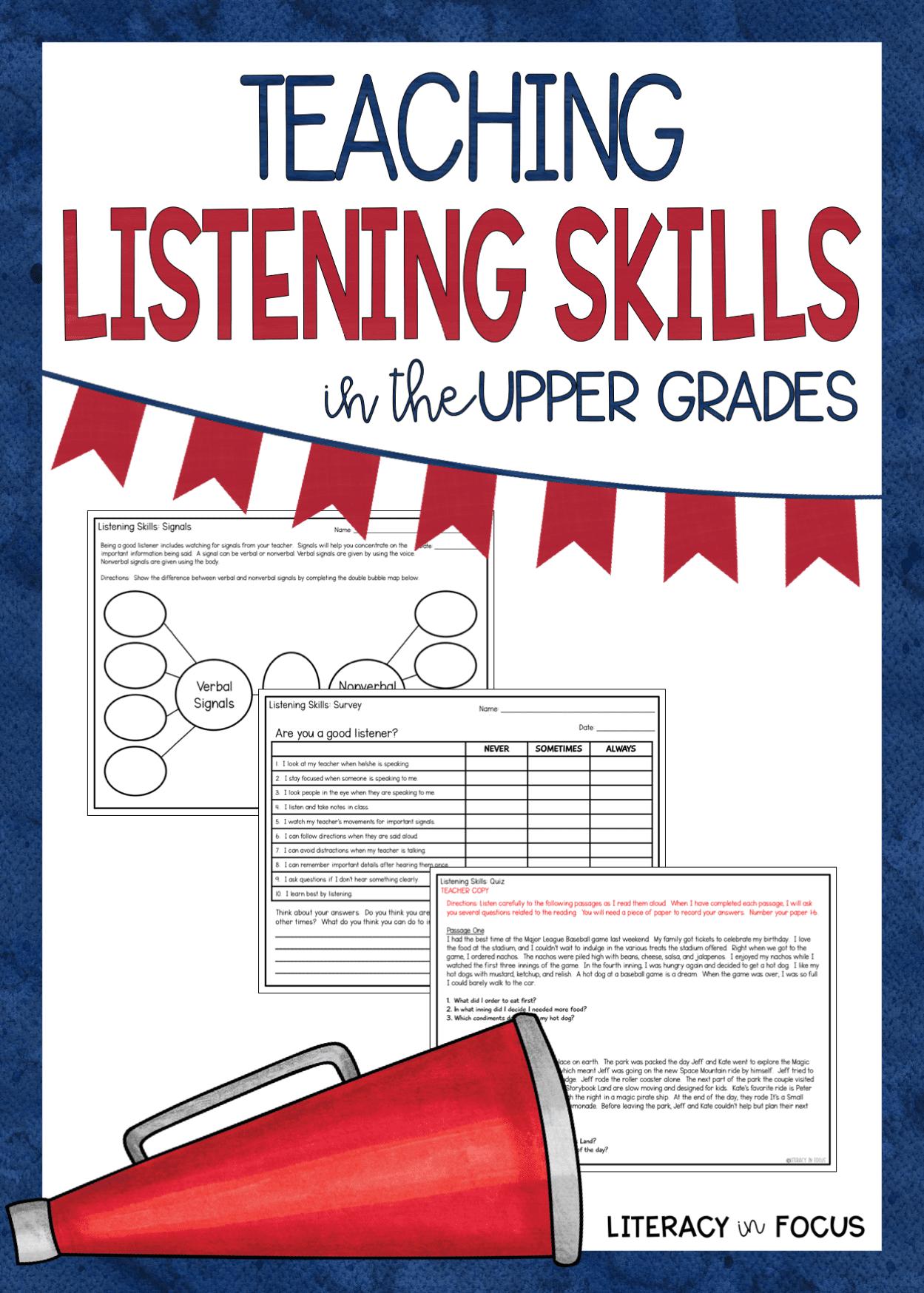 Listening Skills Upper Grades Pin