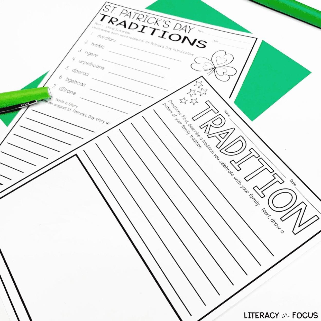 St. Patricks Day Writing Activity