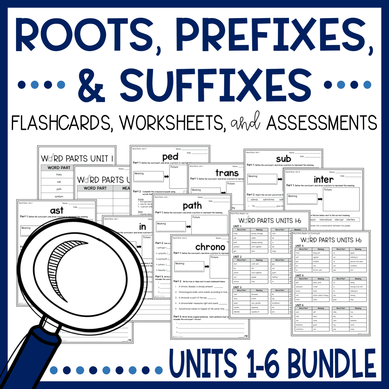 Roots, Prefixes, and Suffixes Lesson Plans