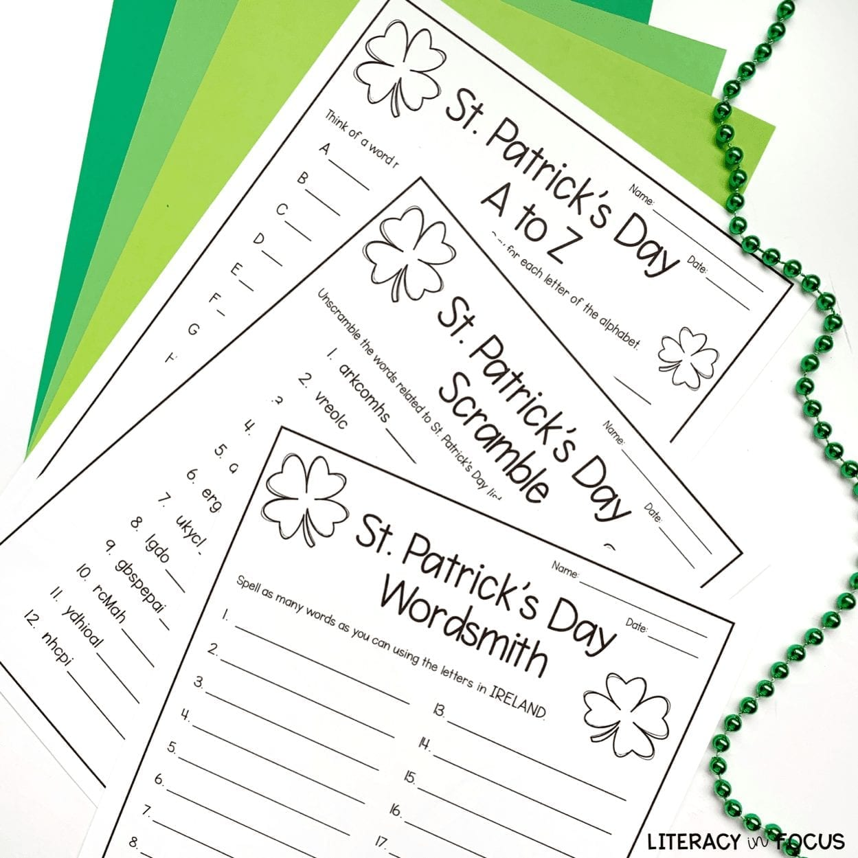 Free Printable St. Patrick's Day Word Games
