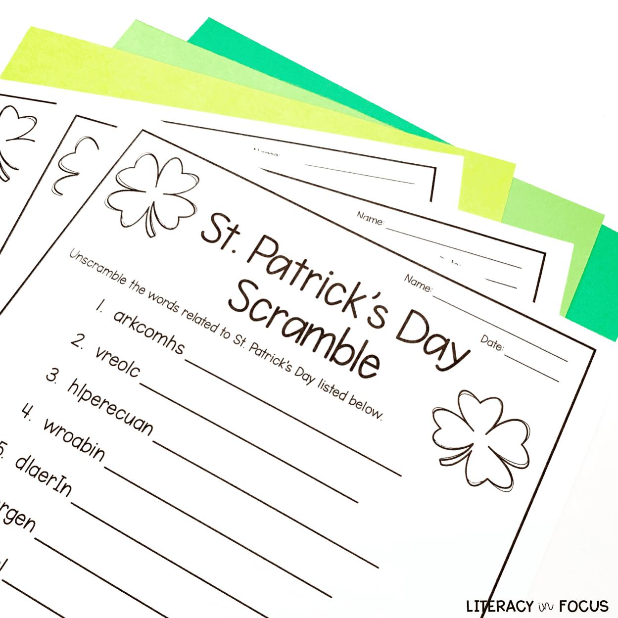 St. Patrick's Day Word Scramble