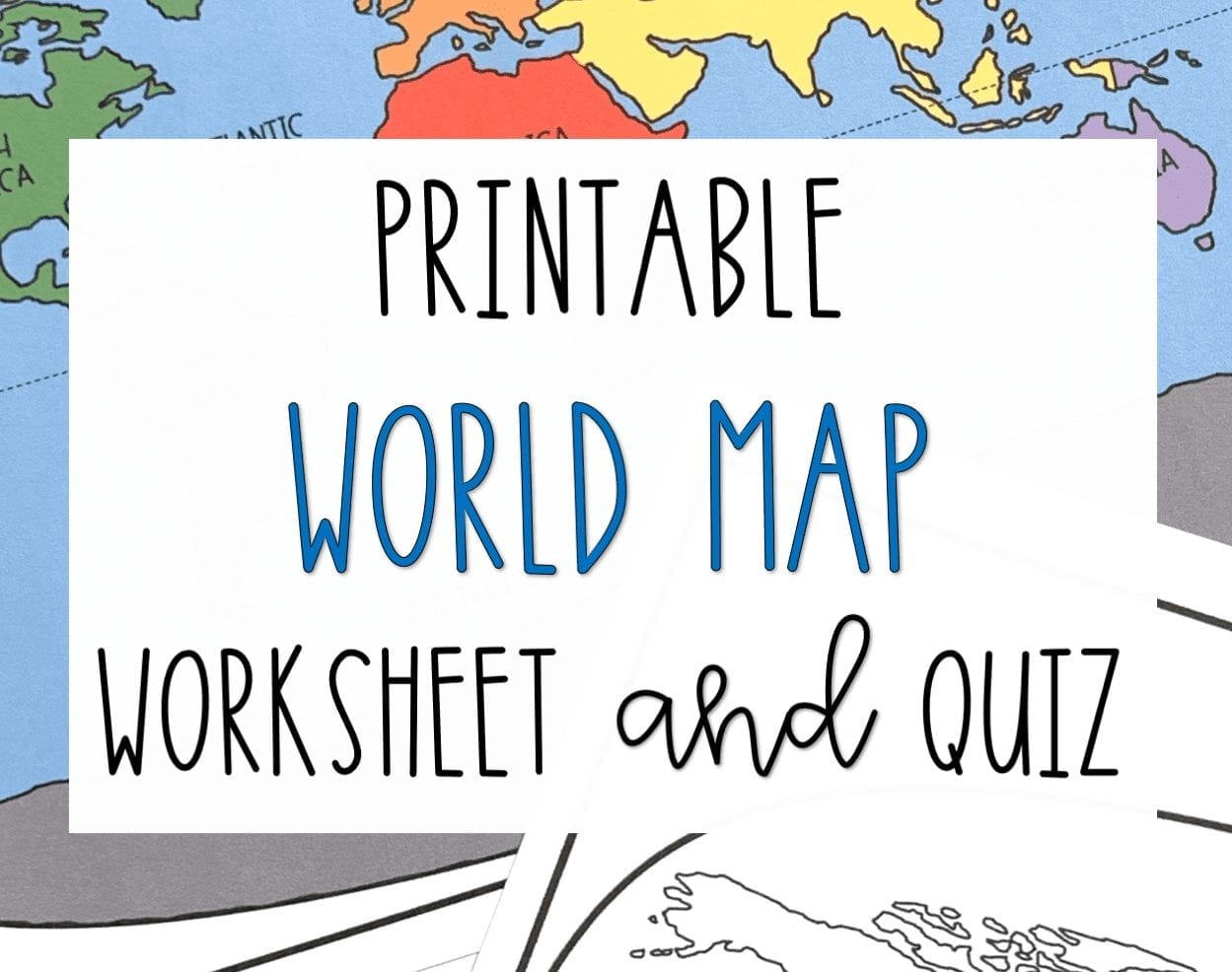 Printable World Map Worksheet