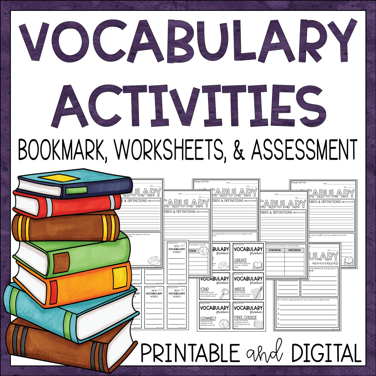 vocabulary templates