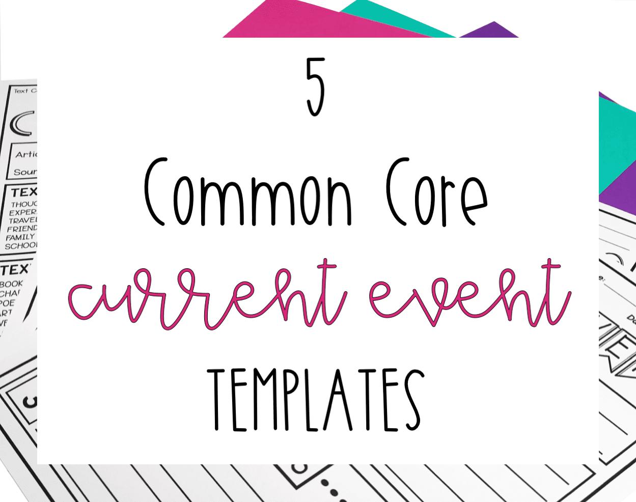 Current Event Worksheets